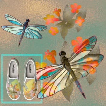 Dragonflies at play