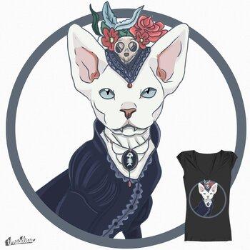 Victorian vampire cat