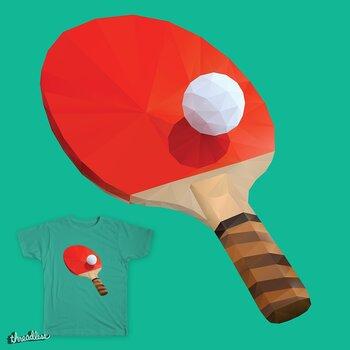 Ping Pong Paddle Polygon Art