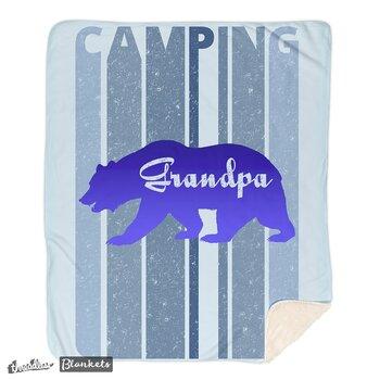 Retro Style Camping. Bear Baby Blanket. I'm in a bear mood.Gradpa's Blanket