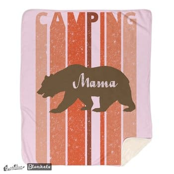 I'm in a bear mood- Retro Style Camping- Mama's Blanket