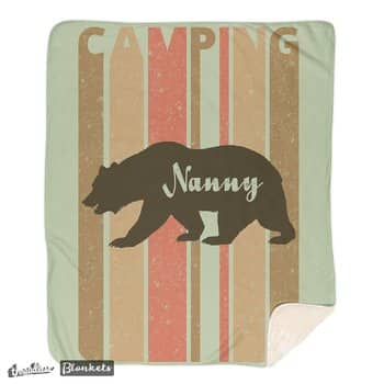 Retro Style Camping.Nanny Bear Blanket. I'm in a bear mood.