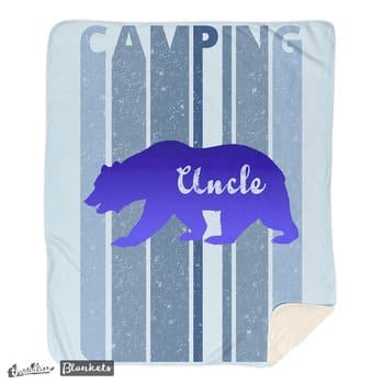 Retro Style Camping Uncle Bear Blanket. I'm in a bear mood.
