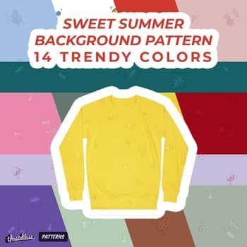 Sweet Summer Background Pattern