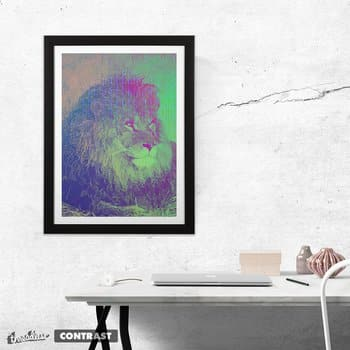 Resting Neon Lion