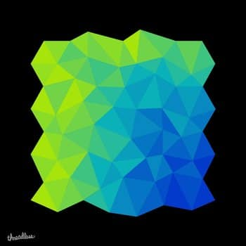 Blue Green Tessellation Mass