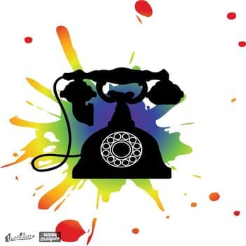 Retro Rotary Phone Pop