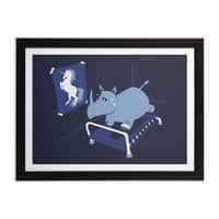 Runnin' Rhino - black-horizontal-framed-print - small view