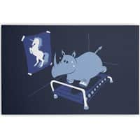 Runnin' Rhino - horizontal-canvas - small view