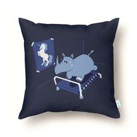 Runnin' Rhino - throw-pillow - small view