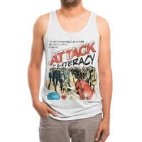 Attack of Literacy! - mens-triblend-tank - small view