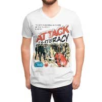 Attack of Literacy! - vneck - small view