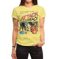 Attack of Literacy! - womens-regular-tee - small view