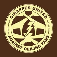 Giraffes United Against Ceiling Fans - small view