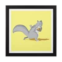 All-Conference Squirrel - black-square-framed-print - small view