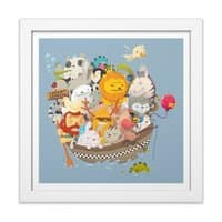 Noah Express - white-square-framed-print - small view