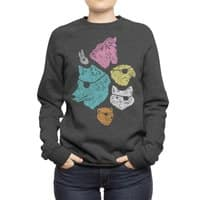Animals with Eyepatches! Yes! - crew-sweatshirt - small view