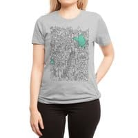 Foam Monster In Emotional Reunion With Severed Limb - womens-regular-tee - small view