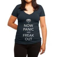 Now Panic and Freak Out - womens-deep-v-neck - small view