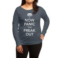 Now Panic and Freak Out - womens-long-sleeve-terry-scoop - small view