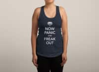 Now Panic and Freak Out - womens-racerback-tank - small view
