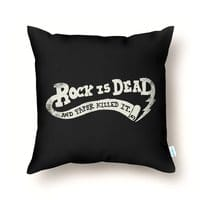 Rock Is Dead and Paper Killed It. - throw-pillow - small view