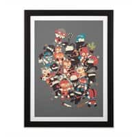 Ninjas vs Luchadores - black-vertical-framed-print - small view
