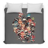 Ninjas vs Luchadores - duvet-cover - small view