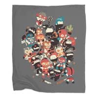 Ninjas vs Luchadores - blanket - small view