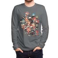 Ninjas vs Luchadores - mens-long-sleeve-tee - small view