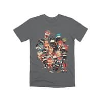 Ninjas vs Luchadores - mens-premium-tee - small view