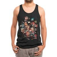 Ninjas vs Luchadores - mens-triblend-tank - small view