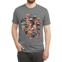 Ninjas vs Luchadores - mens-triblend-tee - small view