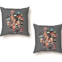 Ninjas vs Luchadores - throw-pillow - small view