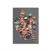 Ninjas vs Luchadores - vertical-mounted-acrylic-print - small view