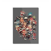 Ninjas vs Luchadores - vertical-mounted-aluminum-print - small view