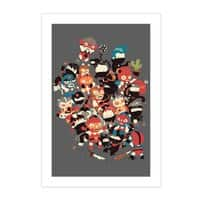 Ninjas vs Luchadores - vertical-print - small view