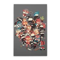 Ninjas vs Luchadores - vertical-stretched-canvas - small view