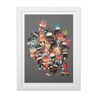 Ninjas vs Luchadores - white-vertical-framed-print - small view