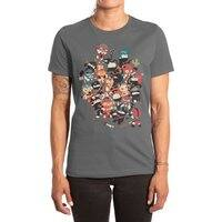 Ninjas vs Luchadores - womens-extra-soft-tee - small view