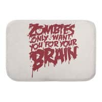 Zombies only want you for your brain - bath-mat - small view