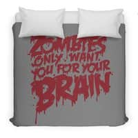 Zombies only want you for your brain - duvet-cover - small view