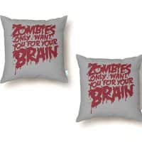 Zombies only want you for your brain - throw-pillow - small view