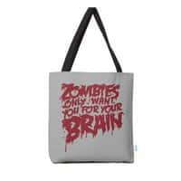 Zombies only want you for your brain - tote-bag - small view