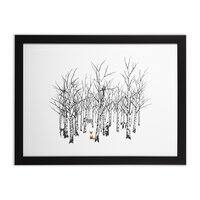 Larry the Fox Doesn't Feel So Clever Anymore. - black-horizontal-framed-print - small view