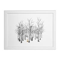 Larry the Fox Doesn't Feel So Clever Anymore. - white-horizontal-framed-print - small view