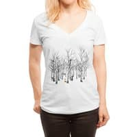 Larry the Fox Doesn't Feel So Clever Anymore. - womens-deep-v-neck - small view