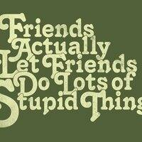 Friends actually let friends do lots of stupid things. - small view