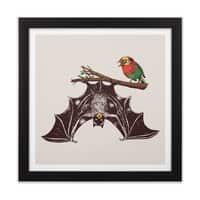 Bat & Rob - black-square-framed-print - small view