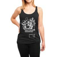 Captain Awesome - womens-triblend-racerback-tank - small view